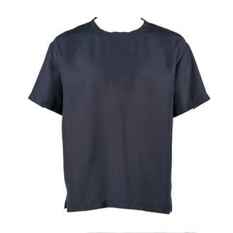 Valentino Navy Silk T-shirts