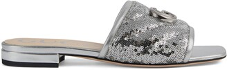 Gucci Women's sequin slide sandal