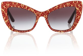 Dolce & Gabbana Devotion cat-eye sunglasses