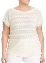 Lauren Ralph Lauren Plus Cable Short-Sleeve Sweater