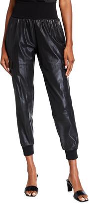 Cinq à Sept Giles Leather Jogger Pants