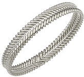 Chimento 18K White Gold Armillas Collection Ridge Waves Bracelet