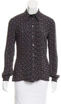 Michael Kors Printed Long Sleeve Button-Up