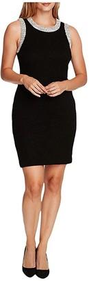 Vince Camuto Sleeveless Eyelash Tweed Dress (Rich Black) Women's Clothing