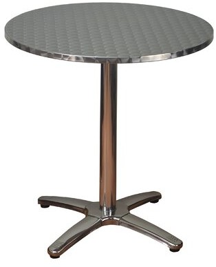 DHC Furniture Round Aluminum Dining Table