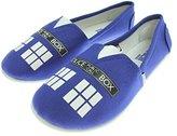Doctor Who Women's Blue Tardis Slip On Shoes Ladies 7/8