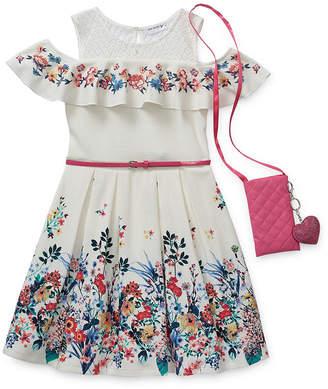 Knitworks Knit Works Girls Belted Sleeveless Skater Dress - Preschool / Big Kid