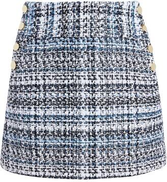 Alice + Olivia Donald straight-leg tweed skirt