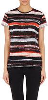 Proenza Schouler Women's Cactus-Striped T-Shirt-RED