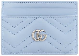 Gucci Blue GG Marmont Card Case
