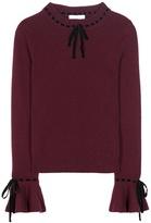 Roksanda Cashmere And Wool Sweater With Velvet