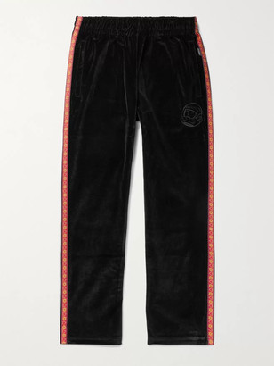 Billionaire Boys Club Heart & Mind Taped Logo-Embroidered Cotton-Velour Sweatpants - Men - Black