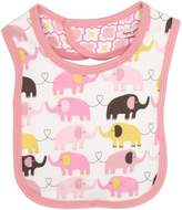Magnificent Baby Girl's Elephant Reversible Bib