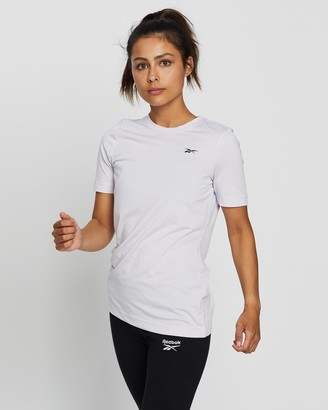 Reebok Performance - Women's Purple Short Sleeve T-Shirts - Workout Speedwick Tee - Size S at The Iconic