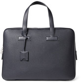 Tom Ford Full-grain Leather Briefcase - Navy