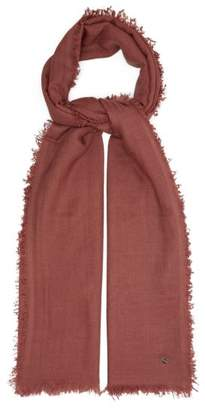 Ann Demeulemeester Fine Knit Cashmere Scarf - Womens - Pink
