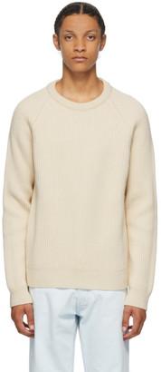 Maison Margiela Off-White Wool Rib Knit Sweater