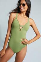 Seafolly Deep-V One-Piece Swimsuit