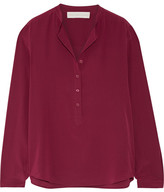 Stella McCartney Eva Silk Crepe De Chine Blouse - Burgundy
