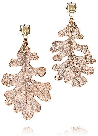 Tory Burch Oak Leaf Drop Earring