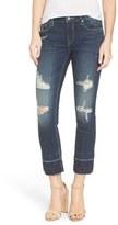 Vigoss Women's Chelsea Destroyed Slim Crop Jeans