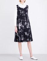 Comme des Garcons Bleached-print woven dress