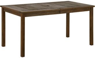 Hewson Acacia Wood Patio Outdoor Dining Table