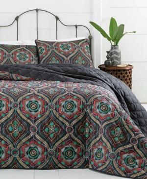 Vera Wang Azalea Skye Nairobi Ogee Quilt Set, Twin Bedding