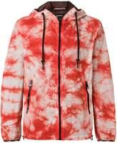 Diesel tie dye zipped hoodie
