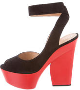 Celine Ankle Twist Platform Sandals w/ Tags