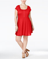 Love Squared Trendy Plus Size Short-Sleeve Fit & Flare Dress