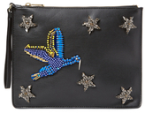 Cynthia Rowley Isla Bird Faux Leather Clutch