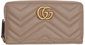 Gucci Pink GG Marmont Continental Wallet