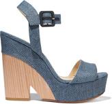 Jimmy Choo Nico raffia wedge sandals
