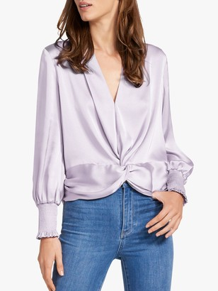 Forever New Cynthia Satin Blouse, Lilac