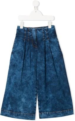 MonnaLisa Stonewashed Wide-Leg Jeans