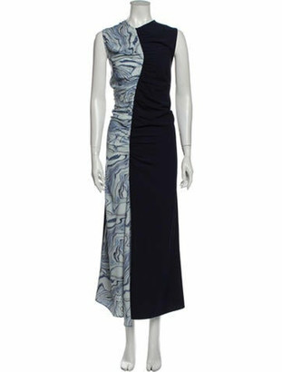 Nomia Printed Long Dress w/ Tags Blue