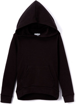 Black Kangaroo-Pocket Hoodie - Girls