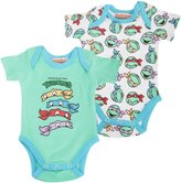 Teenage Mutant Ninja Turtles Official Baby Boys Short Sleeve Cotton Bodysuit (Pack Of 2)