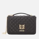 Love Moschino Women's Quilted Medium Flap Shoulder Bag - Black