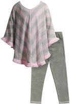 Youngland Toddler Girl Sweater Poncho & Leggings Set