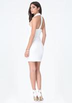 Bebe Bryn Textured Knit Dress