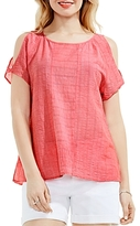 Vince Camuto Cold-Shoulder Gauze Blouse