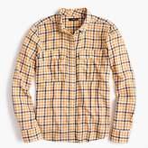 J.Crew Petite Boyfriend shirt in topaz plaid