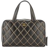 Chanel Black Quilted Leather Matelasse Wild Stitch Boston Bag (Pre Owned)
