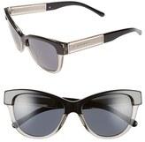 Burberry Women's 55Mm Retro Sunglasses - Dark Grey/ Black