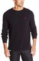U.S. Polo Assn. Men's Long Sleeve Solid Crew Neck Thermal Pullover