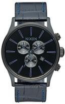 Nixon Men's Sentry Chrono Gator Leather Watch