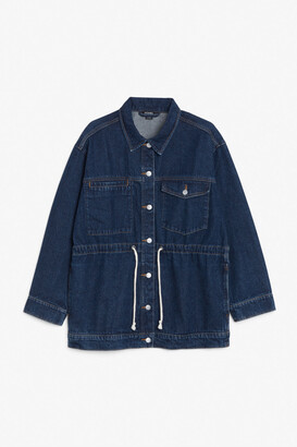 Monki Drawstring waist denim jacket