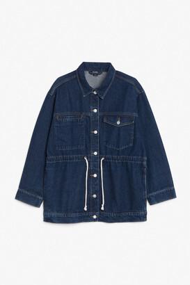 Monki Drawstring waist denim jacket